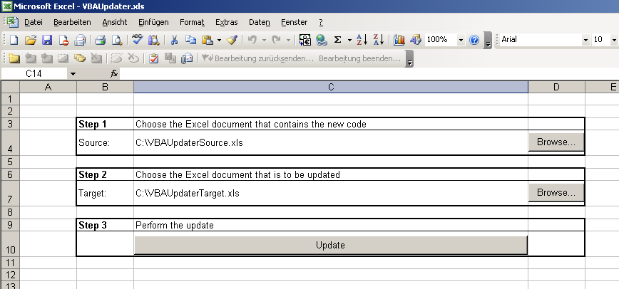 The VBA Updater Tool